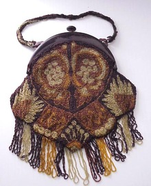 Victorian Hand Beaded Purse - French