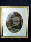 Petit Point Picture Country Scene