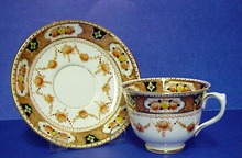 Royal Albert China Cup & Saucer Hand Pntd.