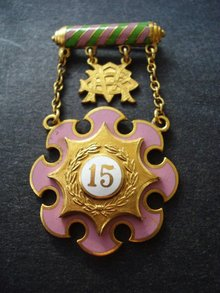 Rebekah Pin 15 year Medal