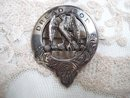 Scottish Sterling Brooch Pendant Dread God