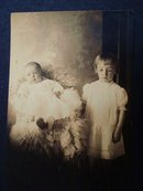 Real Photo Postcard   Baby and Big Sister    Photo    Postcard
