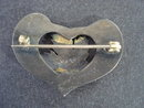Enamel Sterling Heart Shape Brooch Winnipeg