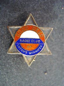 Enamel Pin Good Deed Radio Club Eatons