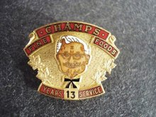 Champs Pin 13 Years Service