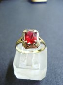 Gorgeous Gold Ring Garnet Size 8