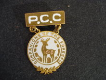 Unusual Gold Pin P.C.C. Companions of the Forest