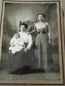 Victorian Photo Mother Child and Aunt