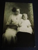 Antique Real Photo Mother and Baby