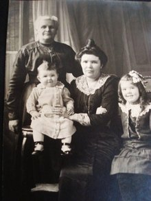 Antique Real Photo 3 generations
