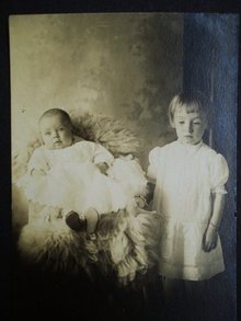 Real Photo Postcard Young Children