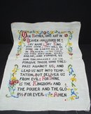 Embroidered Prayer Sampler