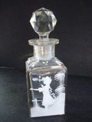 Mary Gregory Glass Perfume Bottle Decanter