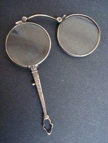 Antique Magnifier Eyeglasses Lorgnette Lorgnon Sterling Silver Monocle  Museum Quality