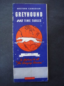 1949 Greyhound Bus Time Tables