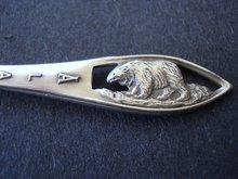 Sterling Souvenir Spoon Alaska Skagway