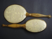 Antique Brush and Mirror Set