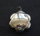 Antique Sterling Pendant Pill Box England