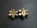 Antique Earrings Diamante Clip on