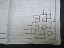 Drawn Thread Hankie Antique