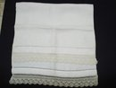 Antique Guest Towel with Knited Lace Border
