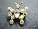 Jewelled Butterfly Brooch Diamante Butterfly