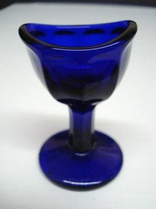 Optical Eyewash Cup Cobalt Blue Glass