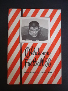 1958 Oklahoma Football Guide