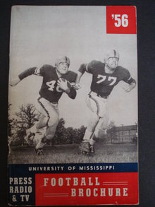 1956 University of Mississippi Football Guide