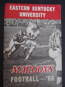 1966 Football Book for Press Radio TV