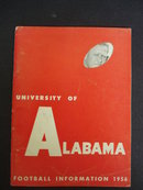 1956 Football Info University of Alabama
