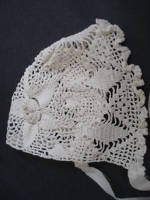 Beautiful Antique Lace Hat     For Baby or Doll