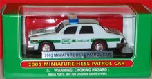 Hess Miniature Patrol Car - 2003