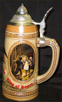 Budweiser Aging and Cooperage Lidded Beer Stein