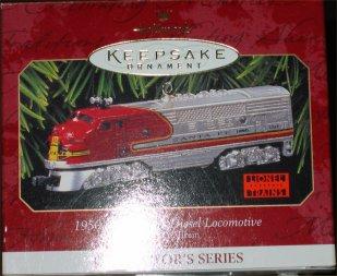 1997 Hallmark Lionel Santa Fe F3 Diesel Locomotive Ornament