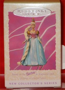 Hallmark Barbie Rapunzel Ornament #1 in Children's Collector Series - 1997
