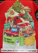 Coca Cola and Fresca Santa Cardboard Cutout