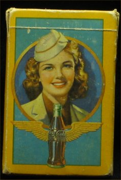 1943 Coca Cola Stewardess Playing Cards
