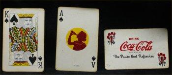 1943 Coca Cola Stewardess Playing Cards