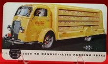 Coca Cola International Harvester Truck Postcard - 1930s