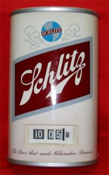 Schlitz Can Clock
