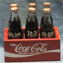 Coca Cola Miniature Foreign Bottles and Crate