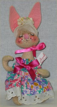 Annalee Easter Bunny Girl Rabbit Doll - 1976