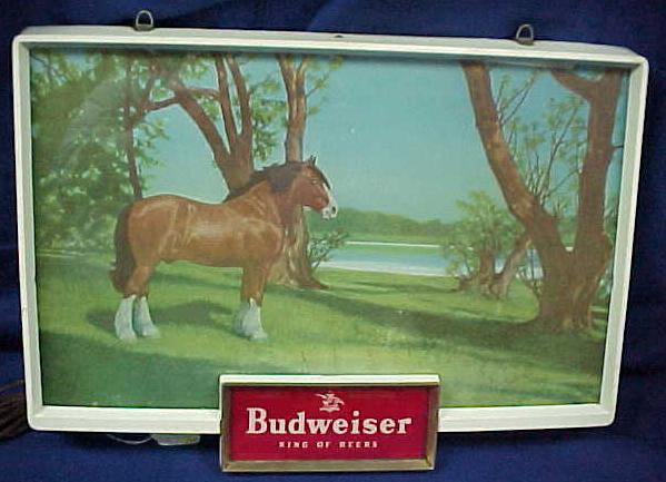1950's Budweiser Horse Light-Up Sign