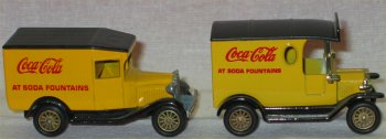 2 Coca Cola Miniature Delivery Trucks by Lledo