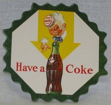 Coca Cola Sprite Boy Coaster - 1950s