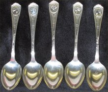 5 Silent Movie Star Spoons - Swanson, Shearer,