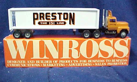 1992 Preston Trucking Winross Tractor Trailer
