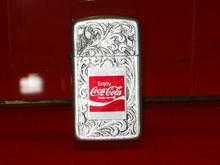 1970s Coca Cola Filigree Lighter