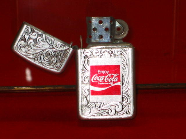 1970s Coca Cola Filigree Lighter